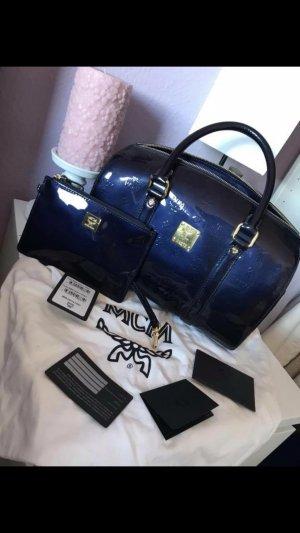 MCM Bolso negro-azul
