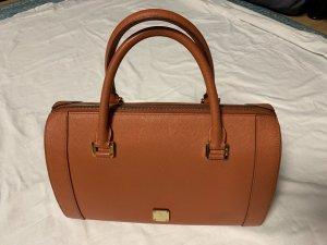 MCM Bowling Bag orange leather