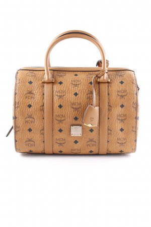"MCM Bowlingtasche ""Signature Visetos Original Boston Medium Cognac"""