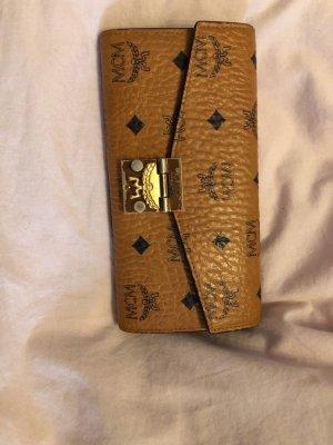 MCM Bolso de mano marrón-color oro