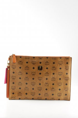MCM Clutch hellorange Allover-Druck Casual-Look