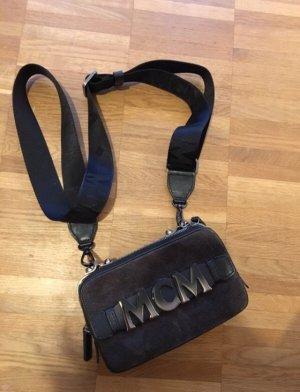MCM Mini sac noir-gris brun