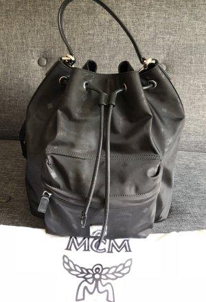 MCM Sac bandoulière noir-argenté