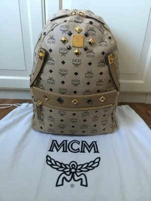 MCM Dual Stark Backpack Medium Beige