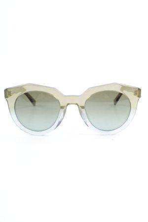 MCM eckige Sonnenbrille Schriftzug gedruckt Street-Fashion-Look