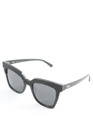 MCM eckige Sonnenbrille schwarz Street-Fashion-Look