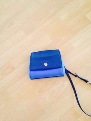 "MCM ""Elda Saffiano Crossbody Mini Blue Combo"""