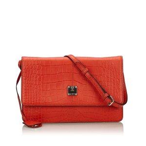 MCM Shoulder Bag red leather