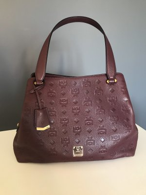 MCM Handbag bordeaux-brown red