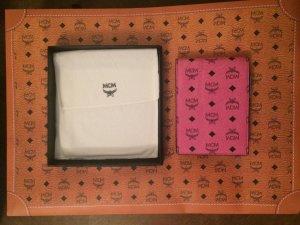 MCM Etui mit Notizblock und Kugelschreiber in rosa/pink