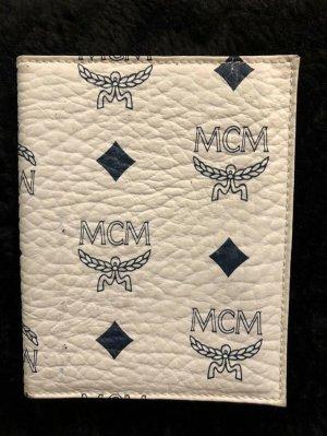 MCM Card Case white-dark blue