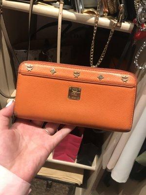 MCM Geldbeutel First Lady Zip Wallet Large Orange