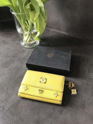 MCM Portafogli giallo-giallo pallido