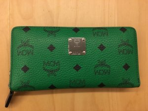 MCM Wallet black-green leather