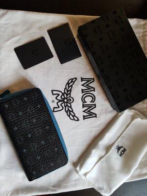 MCM Portefeuille noir-bleu acier