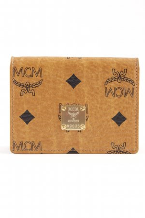MCM Wallet brown-black monogram pattern elegant