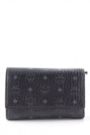 "MCM Portefeuille ""Color Visetos Three Fold Medium Wallet Black"" noir"
