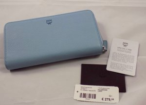 MCM Wallet azure leather