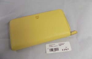 MCM Wallet yellow-silver-colored leather
