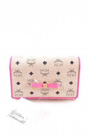 "MCM Wallet ""Mina Visetos Fold Medium Wallet Creme/Pink"""