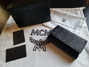 MCM Portefeuille noir-bleuet