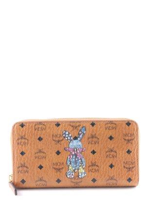"""MCM Wallet """"Rabbit Zip Around Large Wallet Cognac"""" light brown"""