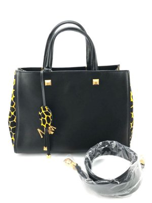 MCM Handbag black-yellow
