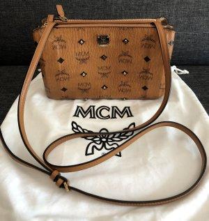 MCM Gold Visetos Crossbody Bag