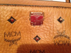 MCM Gold Visetos Shopper Medium