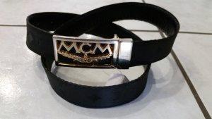 MCM Gürtel mit goldener schnalle