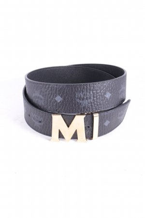 "MCM Gürtel ""Vistos Round GD M Buckle Belt Black 110cm"""
