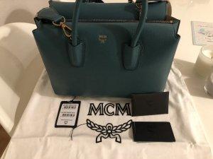 MCM Handbag cadet blue-beige