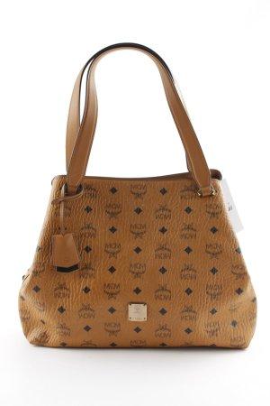 MCM Handbag camel-dark brown monogram pattern classic style