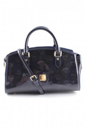 MCM Handbag dark blue monogram pattern casual look
