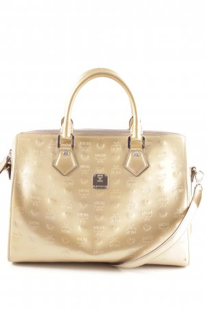 MCM Handbag gold-colored allover print casual look