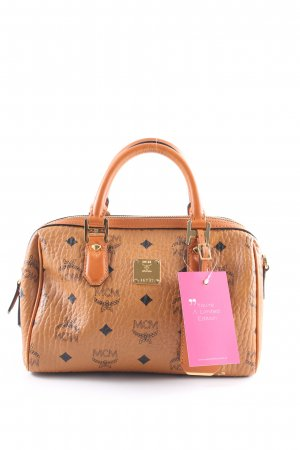 "MCM Sac à main ""Heritage Boston Small Cognac"" marron clair"