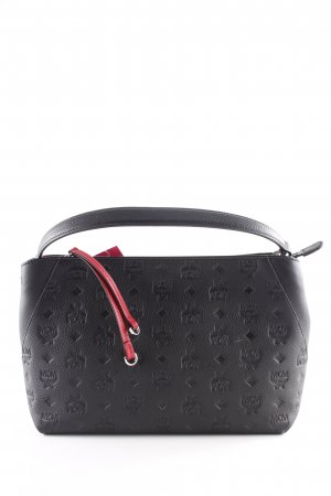 "MCM Sac à main ""Klara Monogrammed Leather Shoulder Bag Black"" noir"