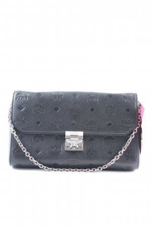 "MCM Sac à main ""Millie Leather Wallet Large Flap Crossbody Bag Black"" noir"