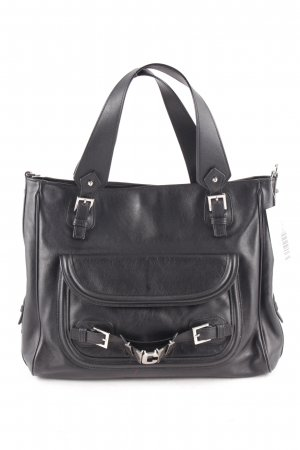 MCM Handbag black-silver-colored casual look