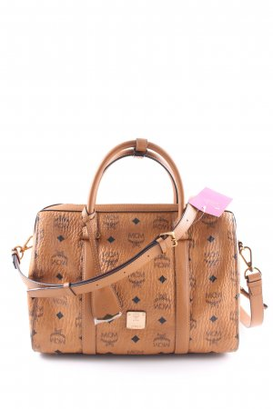"MCM Handbag ""Signature Visetos Original Boston Medium Cognac"" light brown"