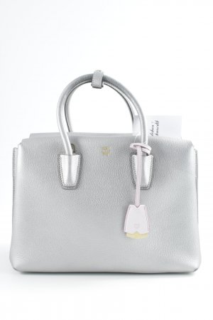 MCM Handbag silver-colored-dusky pink metal look