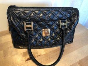 MCM Handtasche Tasche schwarz gold