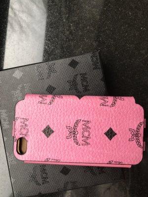 MCM Étui pour téléphone portable rose cuir