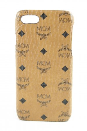 MCM Hoesje voor mobiele telefoons cognac-zwart Patroon-mengeling