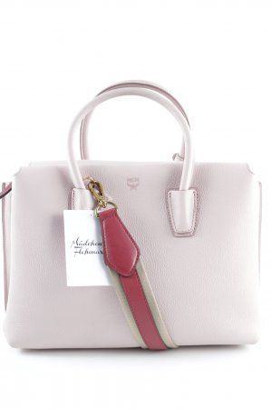 "MCM Sac Baril ""Milla Tote Medium Cow Leather Pale Mauve"" rose clair"