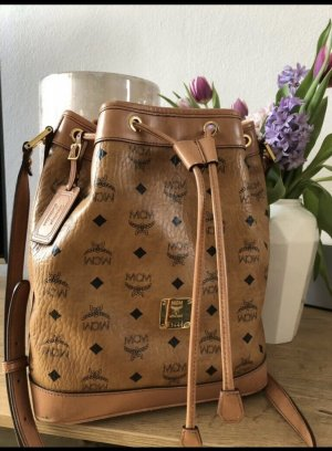 MCM Heritage Collection Small Cognac