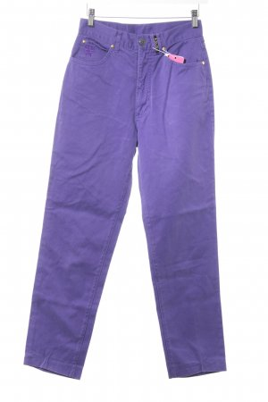 MCM High Waist Jeans blue violet weave pattern casual look