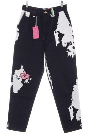 MCM High Waist Jeans Blumenmuster College-Look