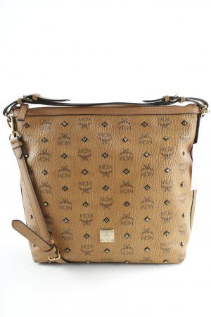 "MCM Sac hobo ""Gold Visetos Hobo Small Cognac"" cognac"