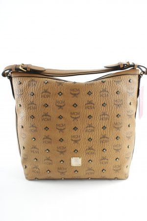 "MCM Hobo ""Gold Visetos Hobo Small Cognac"" cognac"